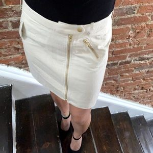 J.Crew Gold Zipper Linen Skirt 🌸